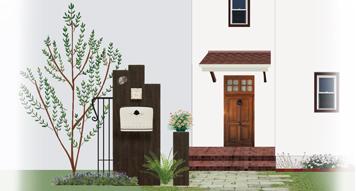 門まわり商品/ディーズガーデンの門を飾るおしゃれなアイテム