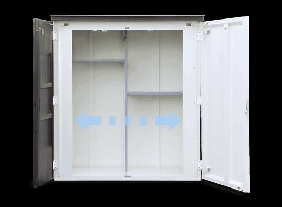 デザイン物置ディーズシェッド リコ 使いやすい両開き扉